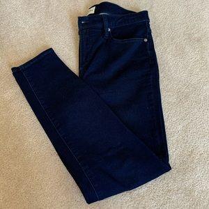 J.Crew skinny jeans in navy dyed denim